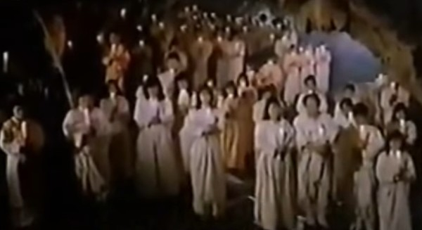 영화 백백교의 한 장면
